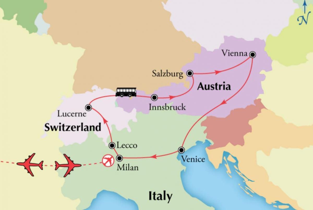 Wien Schweiz Landkarte - Karte von Wien sch (österreich) on